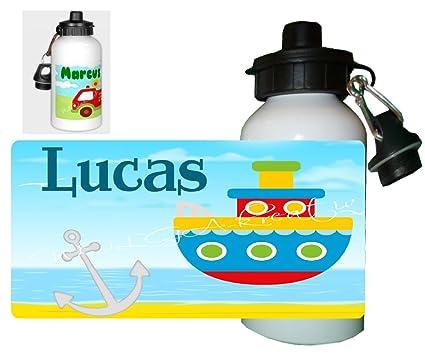 Niños Botella Barco con su propio nombre Nombre Personalizado personalizable muchos diseños