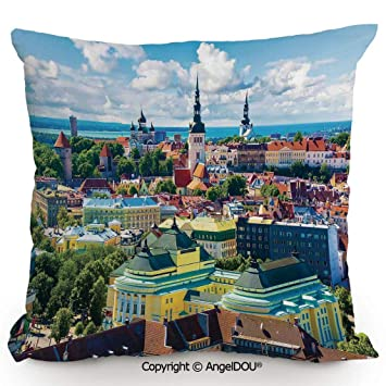 Amazon.com: AngelDOU Throw Pillow Cotton Linen Pillow Cover ...