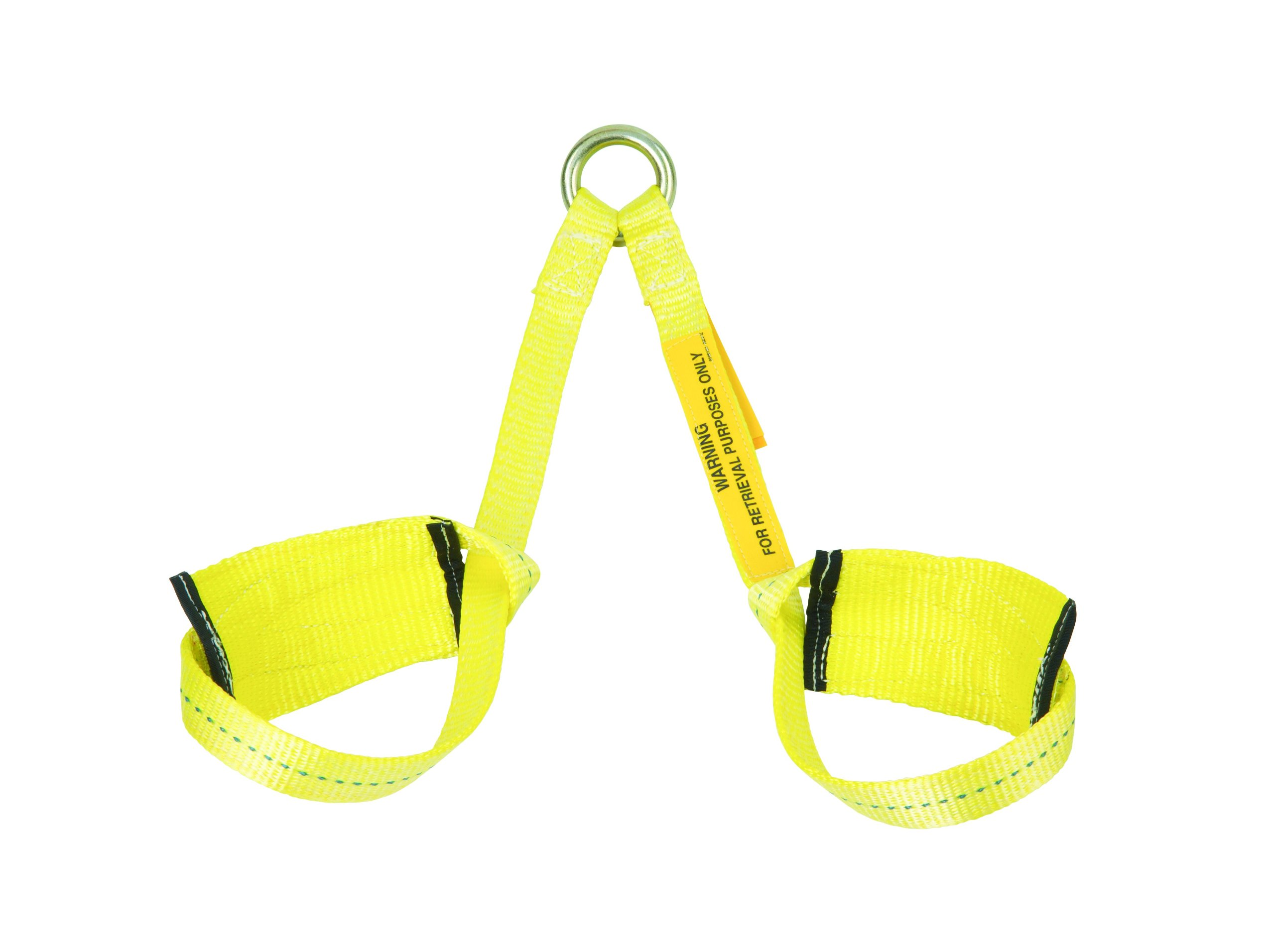 3M DBI-SALA 1001220 Retrieval Wristlets For Confined Space Rescue, Attached With O-Ring At One End, 2-Foot, Yellow