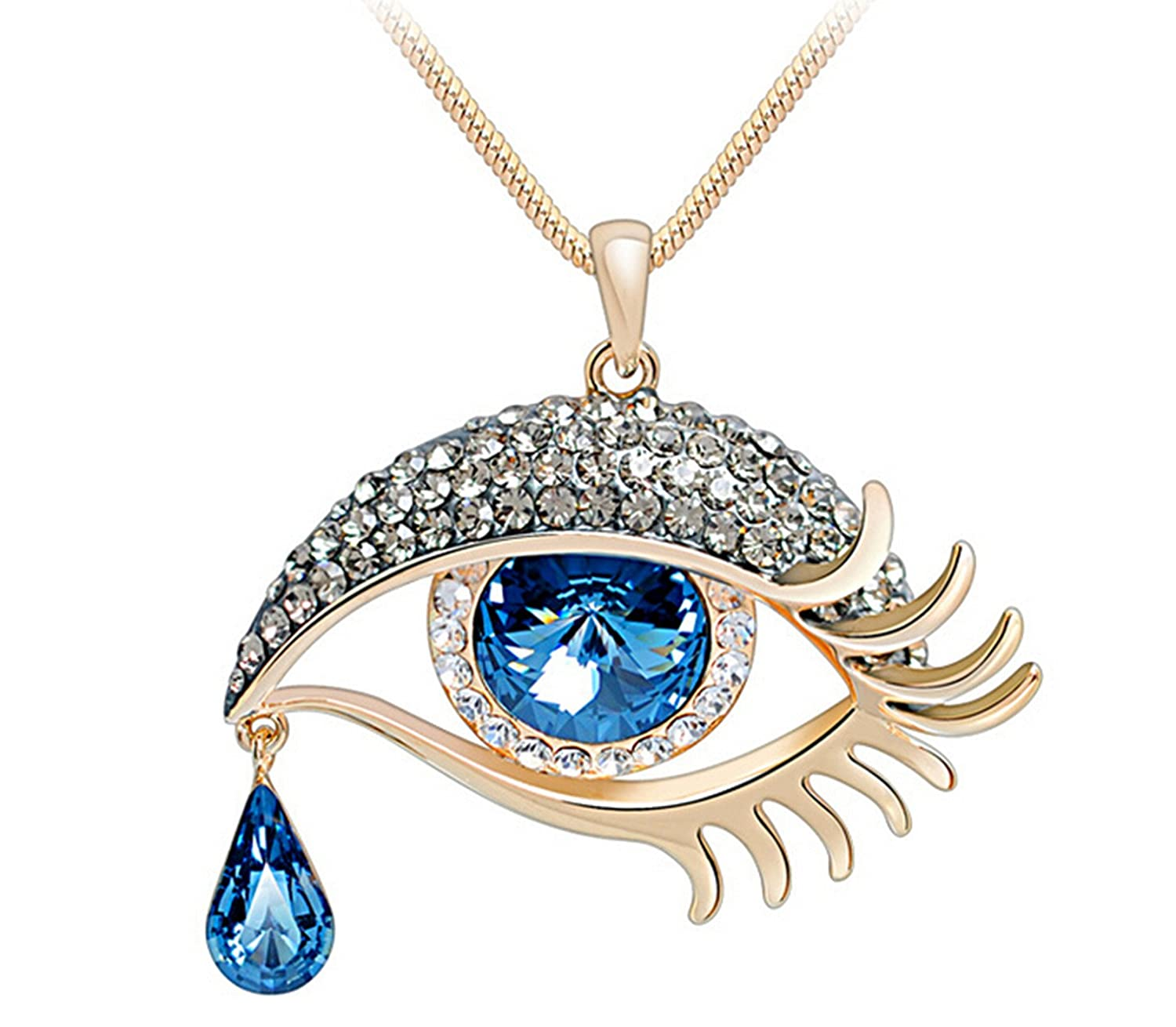eye pendant cubic zirconia silver necklaces jewellery sterling zoom necklace simply