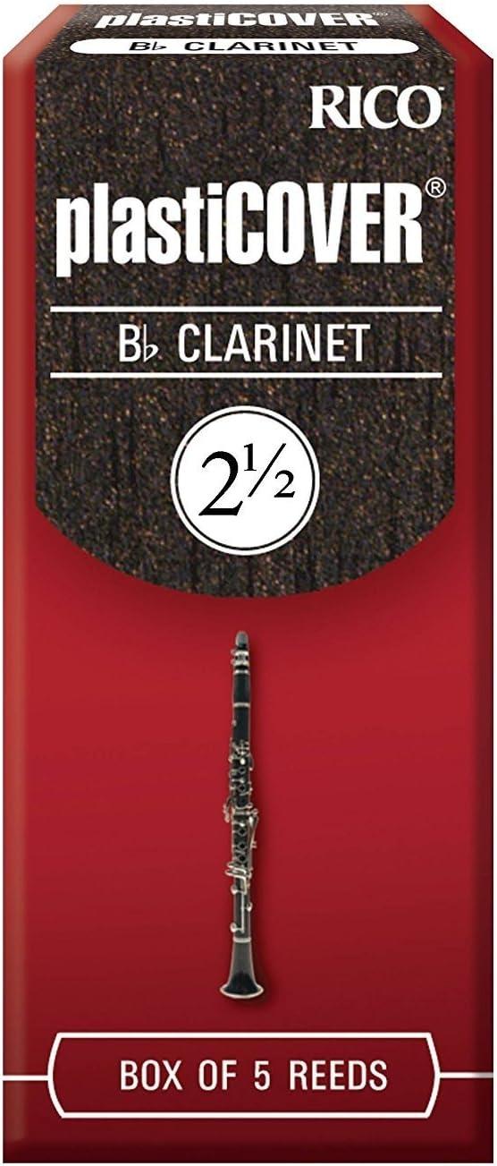 CAÑAS CLARINETE - Rico Plasticover Caja Roja (Dureza 2 ½) (Caja de 5 Unidades): Amazon.es: Instrumentos musicales