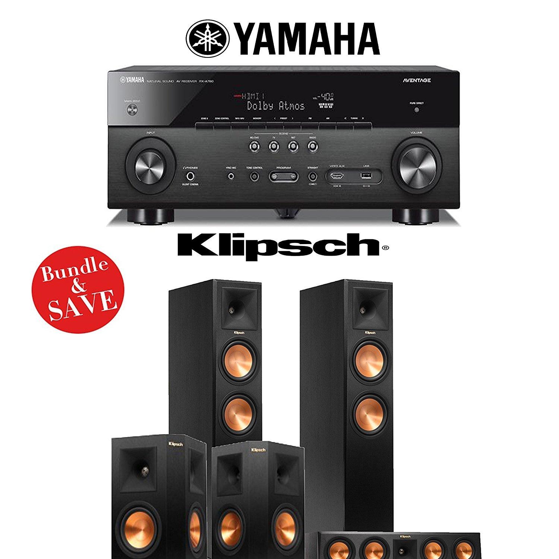 Yamaha AVENTAGE RX-A760BL 7.2-Channel Network A/V Receiver + Klipsch RP-260F + Klipsch RP-440C + Klipsch RP-250S - 5.0 Reference Premiere Home Theater System by Klipsch