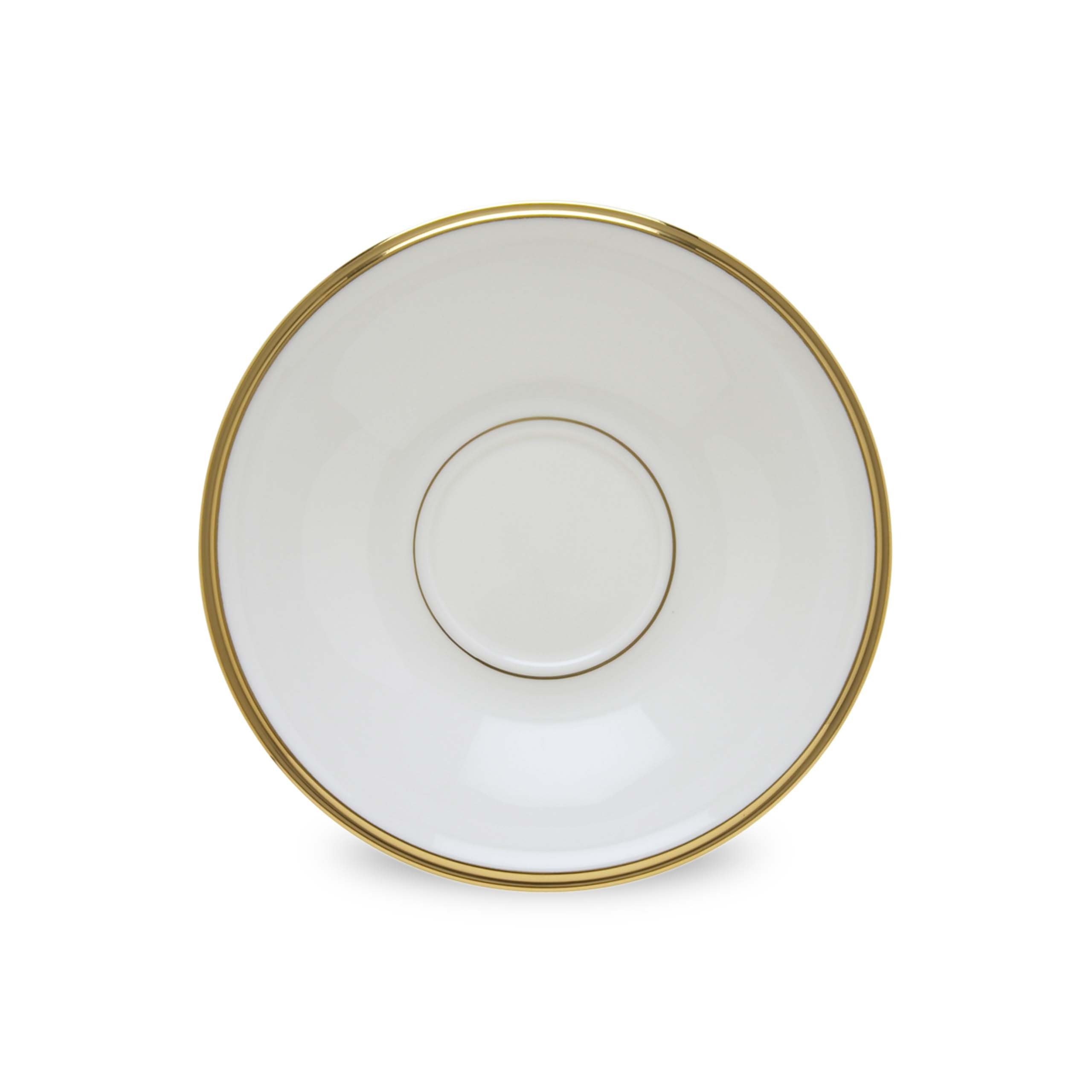 Lenox Eternal White Gold Banded Bone China Saucer