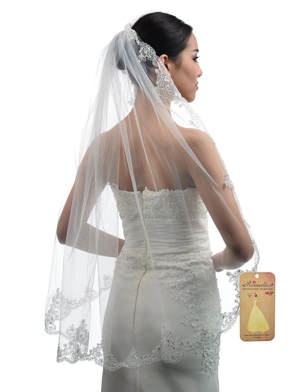 Amazon Topwedding Ivory 1 Tier Tulle Bridal Wedding Veil With