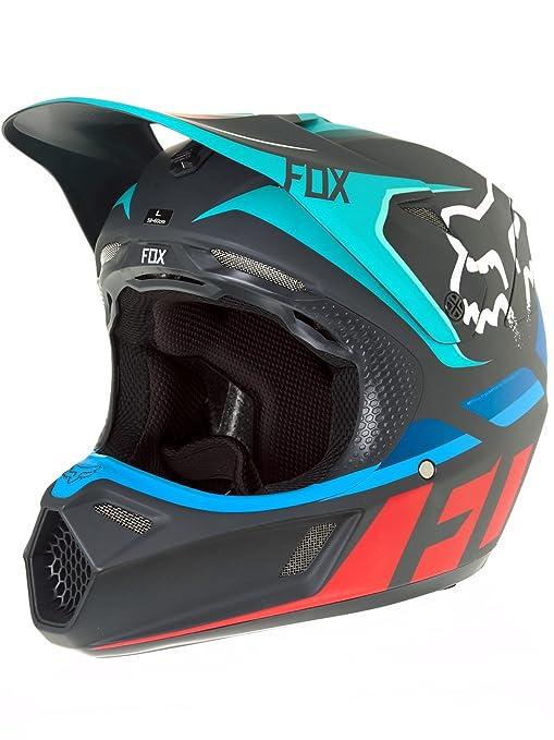 Casco Mx Fox 2017 V3 Seca Gris-Rojo (M , Gris): Fox: Amazon.es: Coche y moto