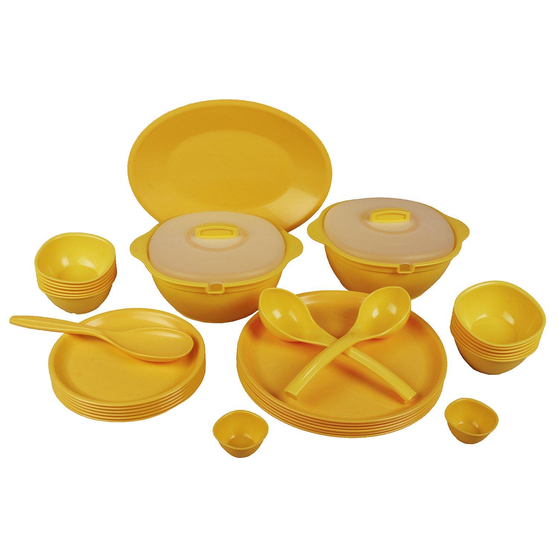 Jaypee Le Dinner Set 34 Pcs R Plain, Yellow