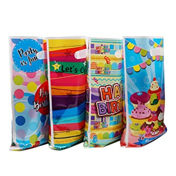PintreeLand Party Loot Bags Plastic Party Bags para Fiesta ...