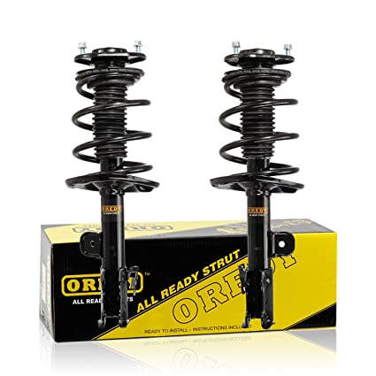 OREDY Front Left & Right 2 Pieces Quick Complete Shock Strut Coil Springs Assembly Kit 11253