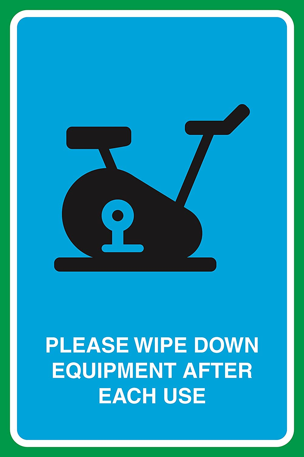 Amazon.com : Please Wipe Down Equipment After Each Use Print Gym ...