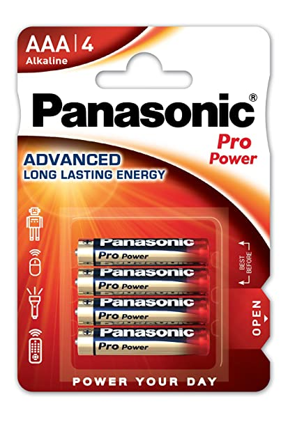 Panasonic PRO POWER LR03 AAA - Pack de 4 pilas alcalinas