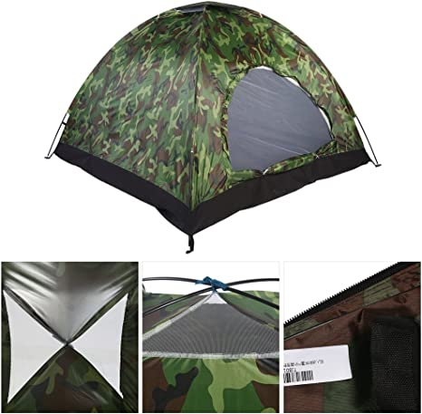 Tienda de Campaña 4 Personas Camuflaje, 3-4 Personas Tienda Camping Dome Tent Outdoor UV Protección de Camuflaje Impermeable Tienda de campaña para Acampar en Familia: Amazon.es: Deportes y aire libre