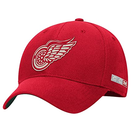 newest 7d46a bfdaa Detroit Red Wings CCM Original Six Stretch Fit Hat (Small Medium)