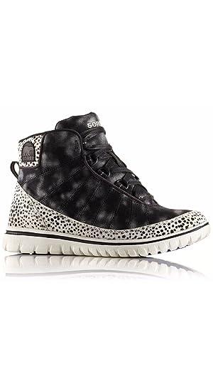 Sorel Women's Tivoli Go High Lux Sneaker Boot, Black/Stone (6)