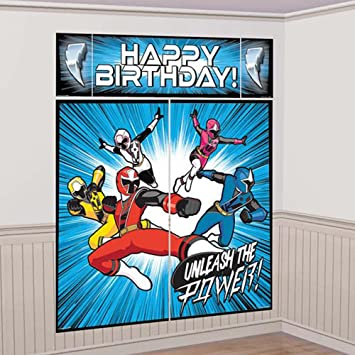 Ninja Power Rangers Steel Wall Poster Decorating Kit (5pc)