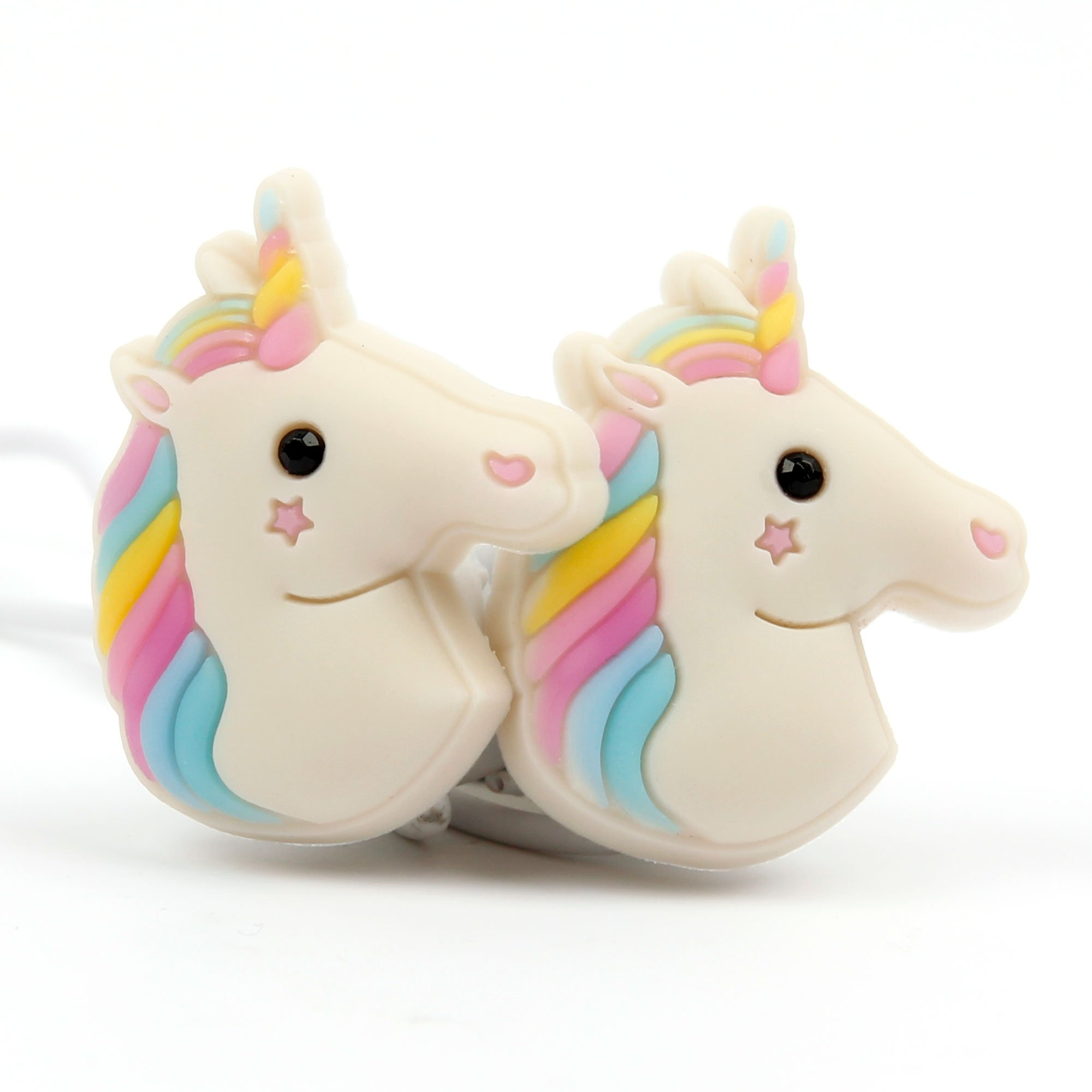 DURAGADGET Cute in-Ear 3D Cartoon Emoji Rainbow Unicorn Earphone Headphones - Compatible with Roland R26 Portable/Edirol Roland R-05 Portable Digital Voice Recorders