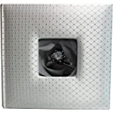Wedding Story Photo Album, Diamond Design w/window, White,Holds 200photos,
