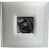 """Wedding Story Photo Album/(set of 2)Diamond Design w/window , White,Holds 200photos, 5""""x7"""" Photos"""