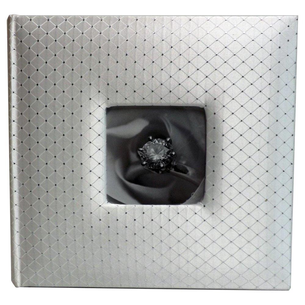 Wedding Story Photo Album/(set of 2)Diamond Design w/window , White,Holds 200photos, 5''x7'' Photos by Showoff Albums (Image #1)