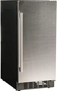 """Azure-A115R-S-15"""" Refrigerator with Solid Stainless Door"""