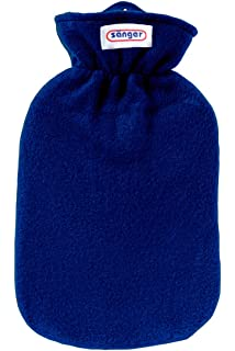 Fleece Hot Water Bottle with Cover, 2.0Litre (Blue) by Snger GmbH