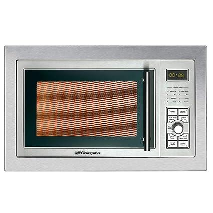 Orbegozo MIG 2325 - Microondas con grill integrable full INOX, 23 litros de capacidad, 8 niveles de potencia, 9 menús de cocción automática, display ...