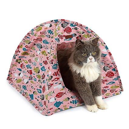 KOBWA Tienda de Campaña Plegable para Mascotas, para Perros, Gatos o Gatos, con