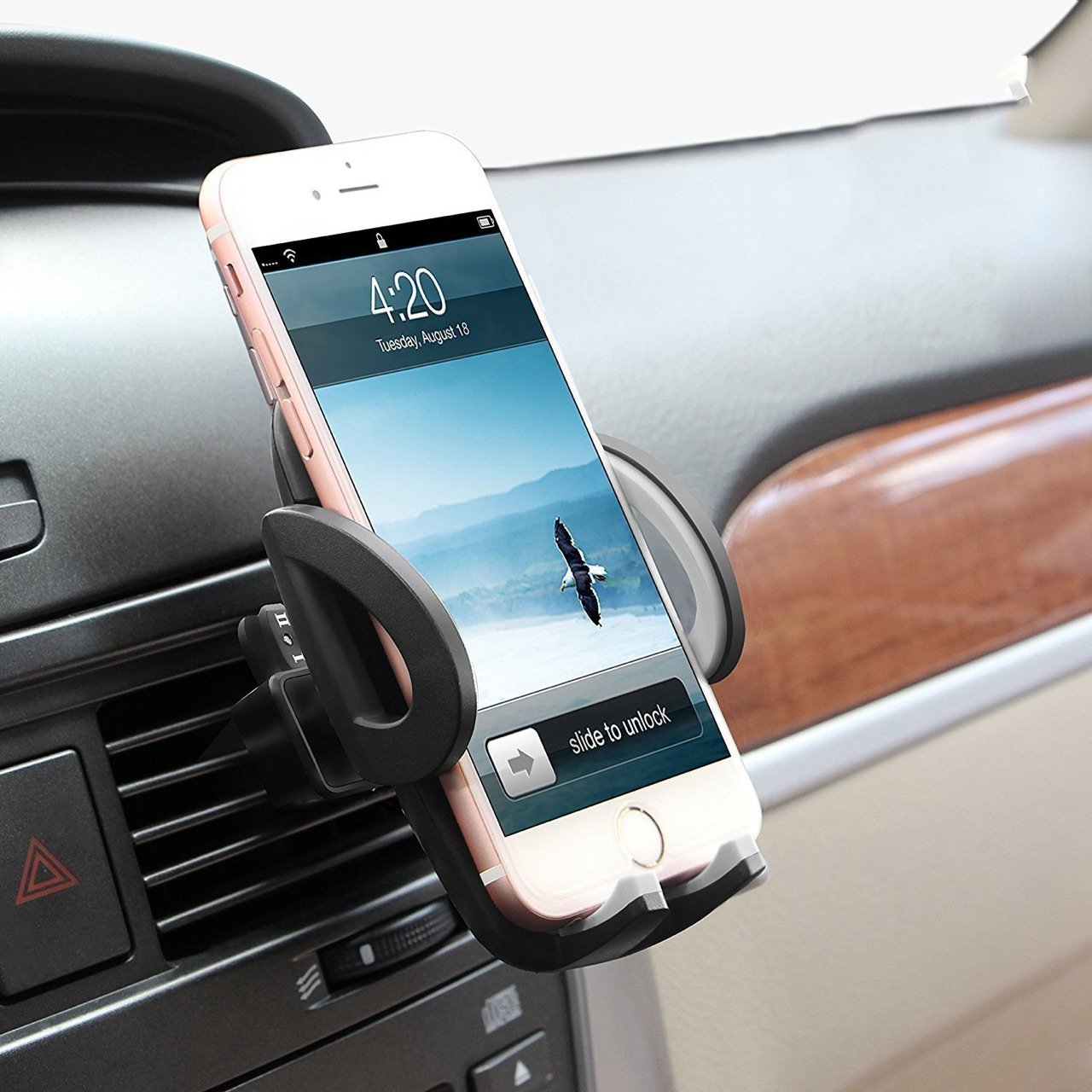 Beam Electronics Universal Smartphone Car Air Vent Mount Holder Cradle Compatible with iPhone X 8 8 Plus 7 7 Plus SE 6s 6 Plus 6 5s 5 4s 4 Samsung Galaxy S6 S5 S4 LG Nexus Sony Nokia and More… by Beam Electronics (Image #2)