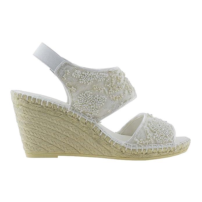 Alpargatas Novia Talla: 41 Color: Hielo: Amazon.es: Zapatos y complementos