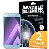 Samsung Galaxy A5 2017 Screen Protector, Invisible Defender [Full Coverage][2-Pack] Edge to Edge Curved Side Coverage Guaranteed [Case Compatible] Super Thin HD Clearness Film for Samsung Galaxy A5 2017
