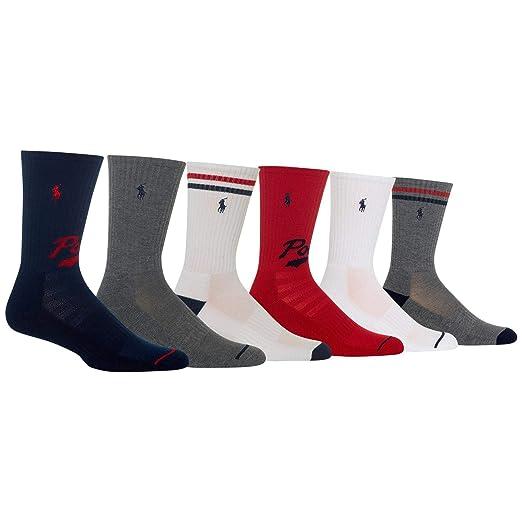 ec0707cbc1 Polo Ralph Lauren Men's 6-Pack Crew Sock