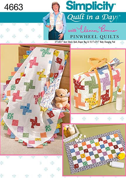 Quilt in a Day Quilt Pattern Pinwheels /& Rectangle Eleanor Burns New Store Stock