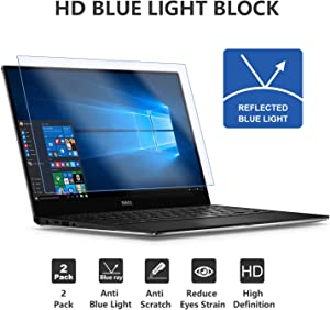 2 Pack 15.6 Inch Anti Blue Light Block Laptop Screen Protector 16:9 Widescreen Anti Scratch Proof Dust-Proof and Fingerprint Resistant Full Compatibility with Touchscreen