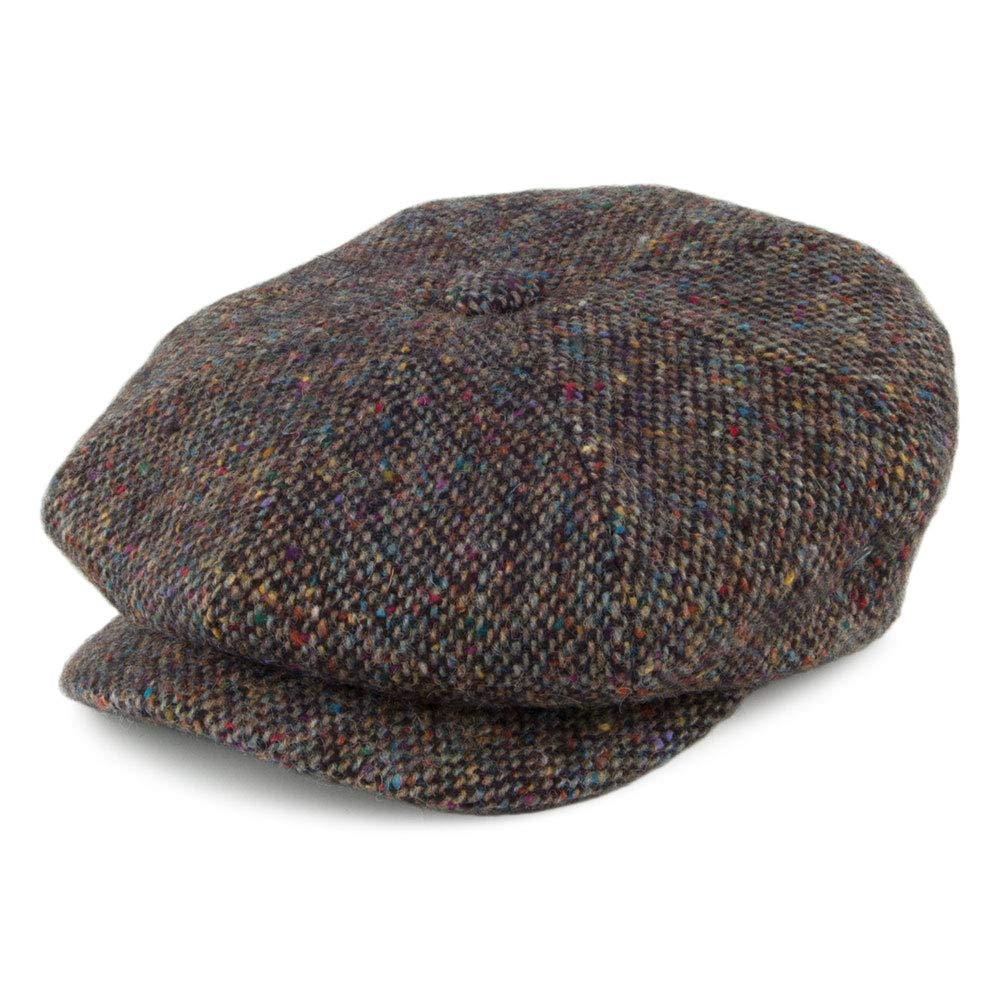Village Hats City Sport Donegal Tweed Marl Newsboy Cap - Multi-Colored  Large  Amazon.co.uk  Clothing dc27eb68bc6