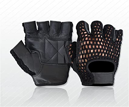 BRAND NEW* NET WEIGHT LIFTING PADDED LEATHER GLOVES TRAINING CYCLING GYM