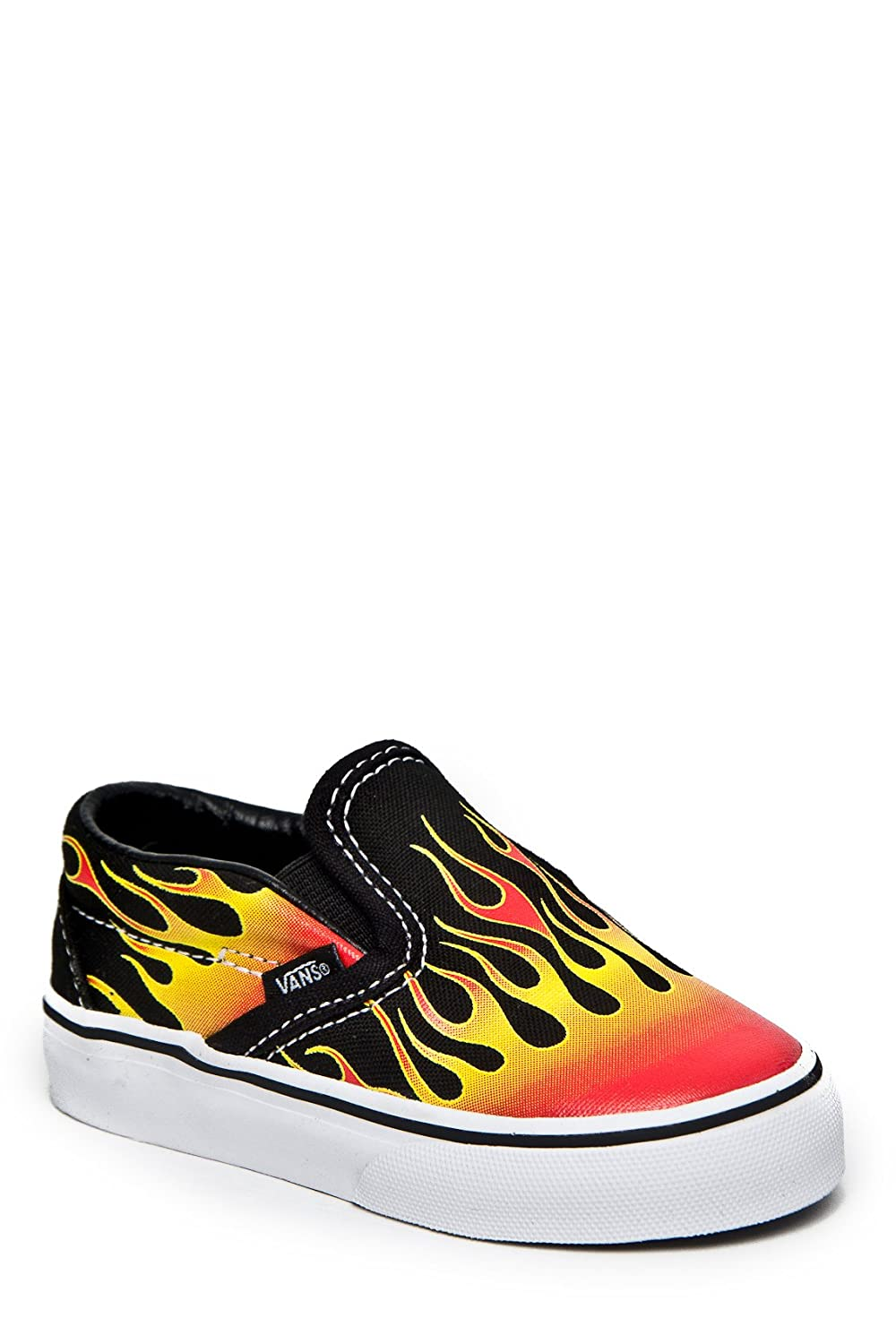 Vans Toddler Classic Slip On, Flame BlackRed 8.5 Toddler