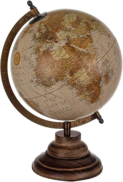 Art Deco Globe Terrestre 20 cm