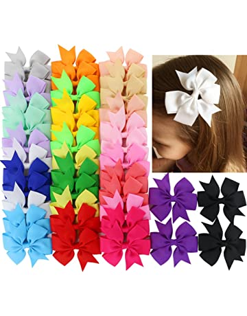40Piece Boutique Grosgrain Ribbon Pinwheel Hair Bows Alligator Clips For  Girls Babies Toddlers Teens Gifts In cc598793bd7c
