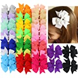40Piece Boutique Grosgrain Ribbon Pinwheel Hair...