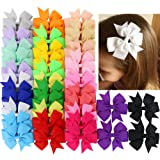 40Piece Boutique Grosgrain Ribbon Pinwheel Hair Bows Alligator Clips For Babies Toddlers Teens Gifts In Pairs
