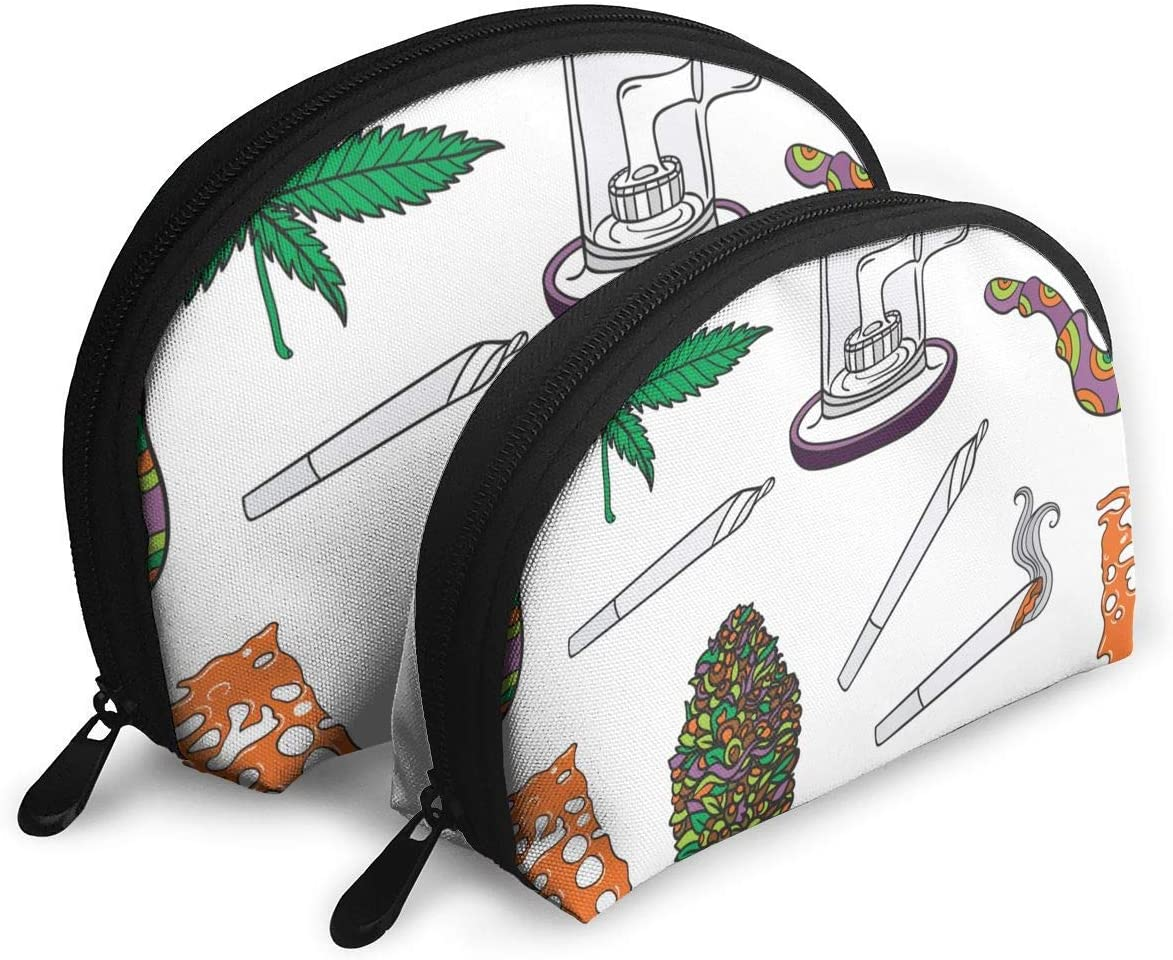 Cannabis Realistic Bong Healthcare Medical Pouch Zipper Toiletry Organizer Travel Makeup Clutch Bag Portable Bags Clutch Pouch Storage Bags