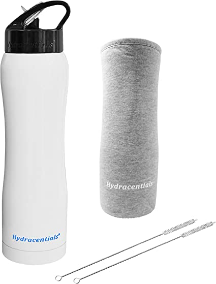 Smart Flask Biteproof Straw lid Replacement for Wide Mouth Flasks and Bottles with 2 Straws and 2 Straw Brushes