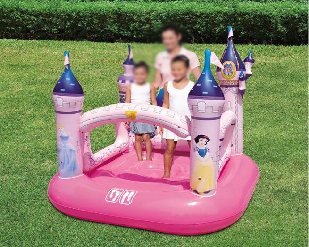 xueyan& Trampolino gonfiabile dell'interno, attrezzature bambino ragazzo parco divertimenti giocattolo casa, disney section 10 ball + repair kit [without pump]