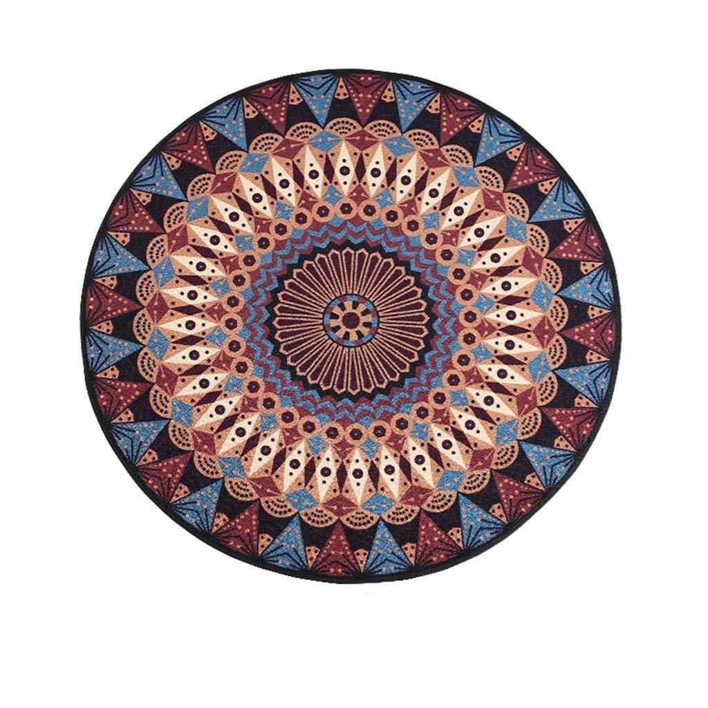 NBE 6 mm Fashion kreative Runde Nylon Teppich Schlafzimmer Wohnzimmer Rutschfeste Decke Sofa neben Teppich (Größe: 130 * 130 cm).