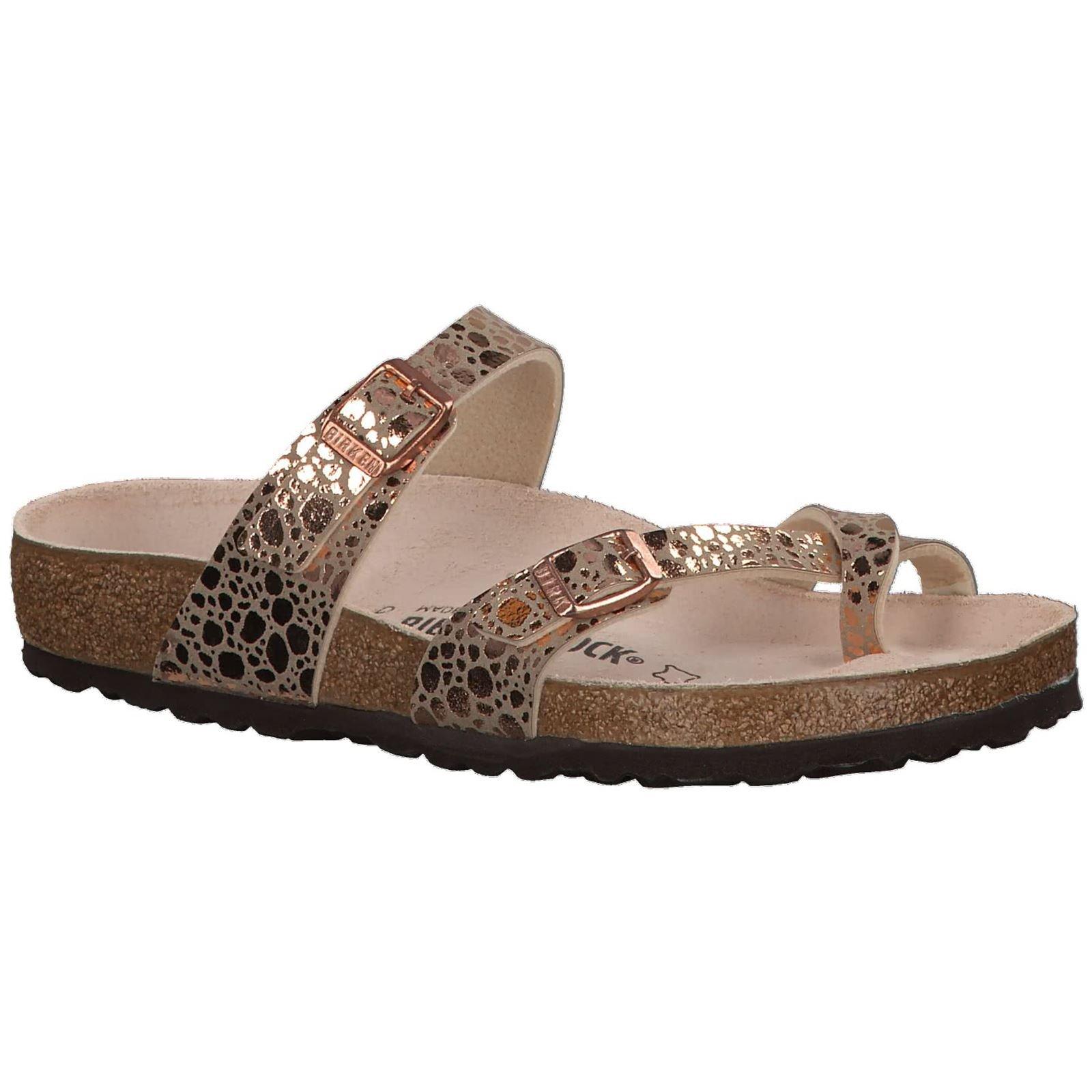 Birkenstock Womens Mayari Metallic Stones Copper Birko-Flor Sandals 38 EU