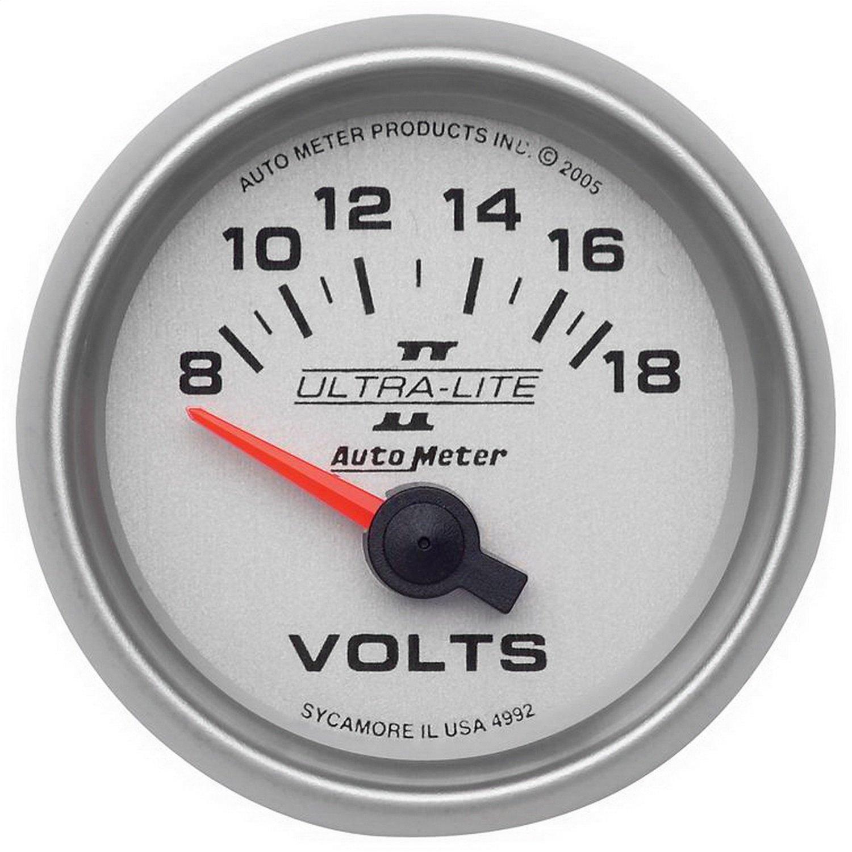 Auto Meter 4992 Ultra-Lite II Voltmeter