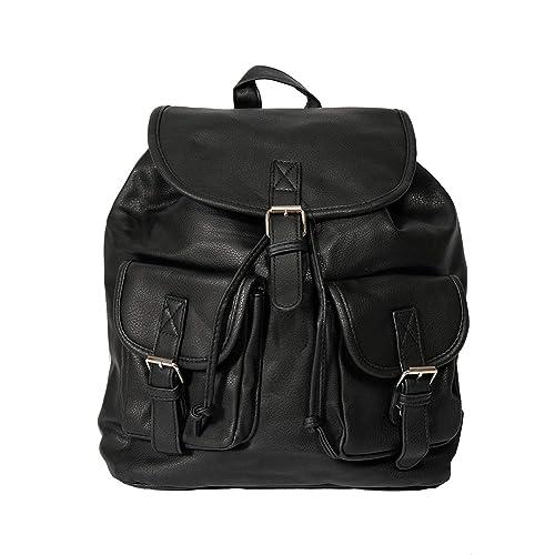 3e45384e53 Zaino Uomo Pelle Lavoro Nero Piccolo Moto Monospalla Backpack Sacca Con  Tasche Borsa Donna a Spalla Elegante Zainetto Scuola Sportivo: Amazon.it:  Scarpe e ...