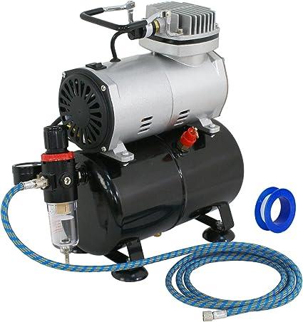 Amazon.com: ZENY Pro 1/5 HP Airbrush Compresor de aire Kit ...