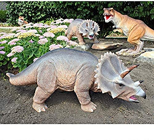 Design Toscano JQ6177 Scaled Jurassic Triceratops Dinosaur Statue,Full Color,drill-355