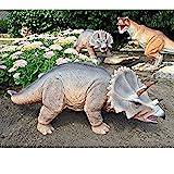 Design Toscano JQ6177 Scaled Jurassic Triceratops Dinosaur Statue,Full Color,drill-355
