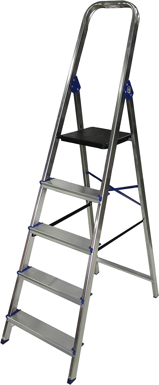Escalera domestica de aluminio Altipesa (Aluminio, 5 PELDAÑOS): Amazon.es: Bricolaje y herramientas